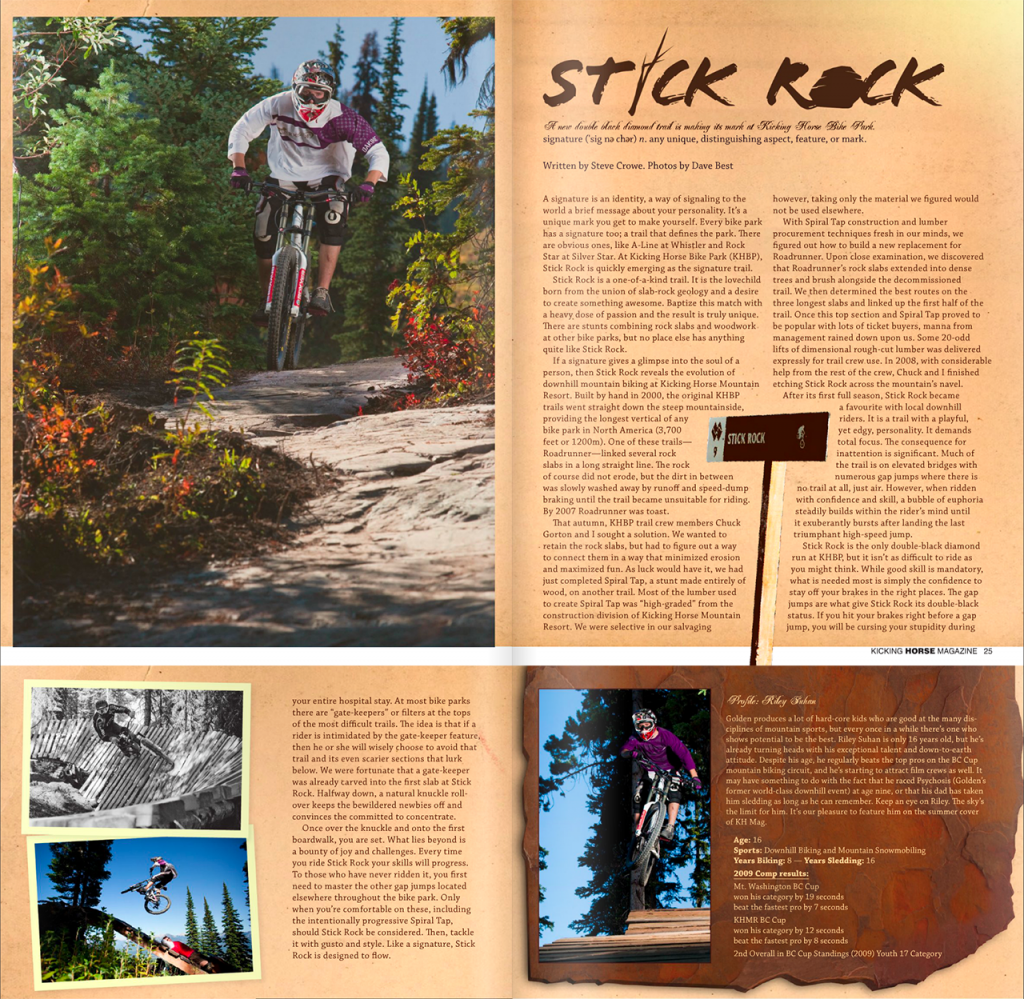 Kicking Horse Magazine Stick Rock Article